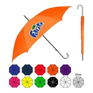 Sleek Stick Umbrella w/ Hook Handle (46