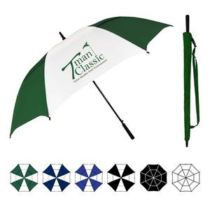 Oversized Wind Vented Golf Umbrella w/ Rubberized Handle (64