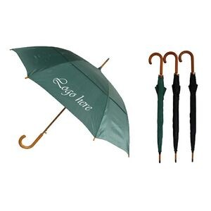 Wood Stick Umbrella with Vented Canopy (46